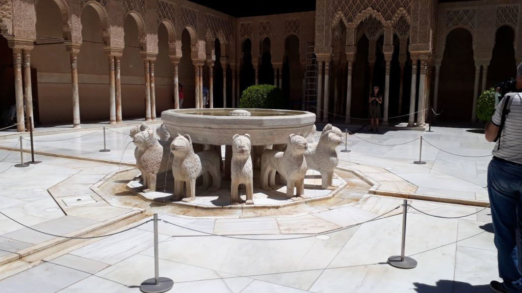 FONTAINE AUX LIONS ALHAMBRA GRENADE