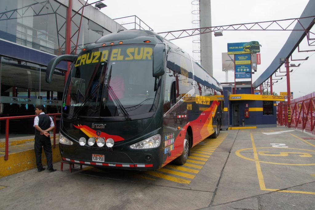 Cruz del Sur pour trajet en bus LIMA ICA