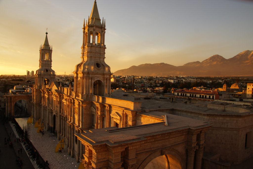 Cathédrale d'AREQUIPA AU PROGRAMME DE VISITE AREQUIPA