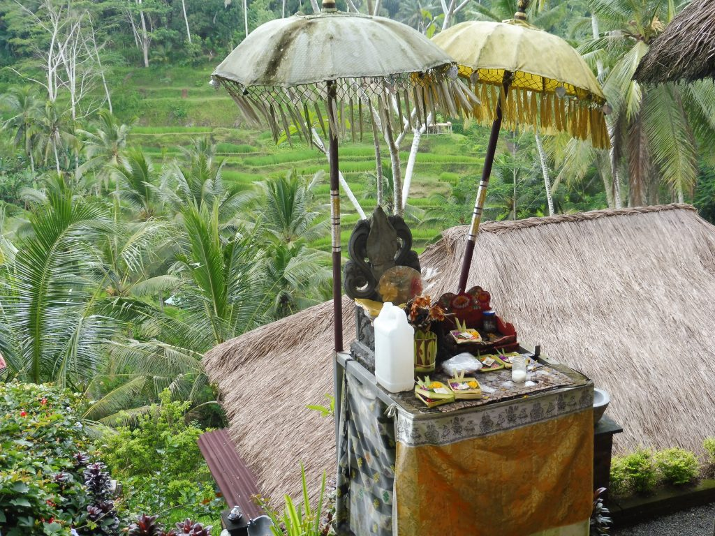 Offrandes à BALI INDONESIE