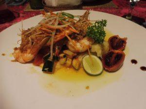 Exemple de plat servi au Restaurant IBU RAI à UBUD