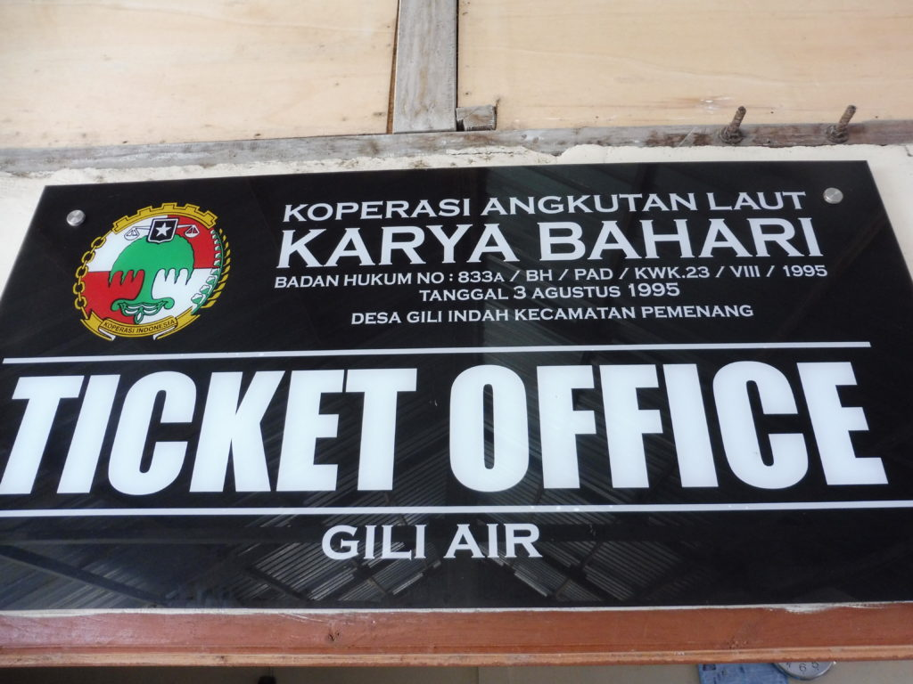 INFORMATIONS EMBARCADERE GILI AIR