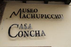 Visiter CUSCO -CASA CONCHA MUSEO MACHUPICCHU