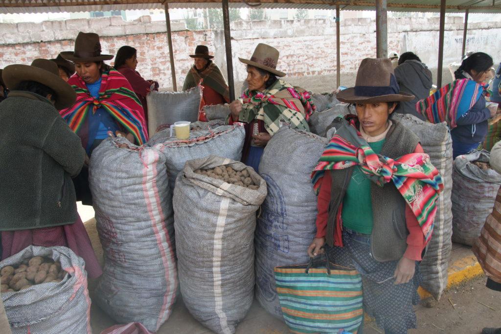 Etal dans le marché de Cusco au Pérou