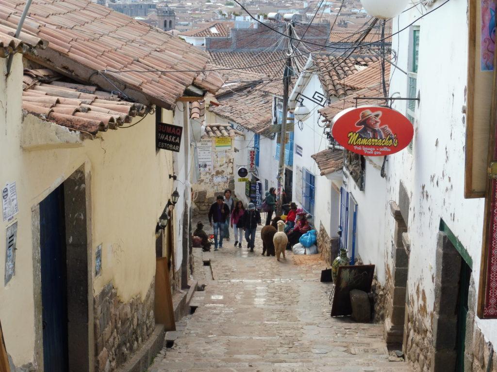 Ruelle dans le quartier San Blas dans le programme Visiter CUSCO