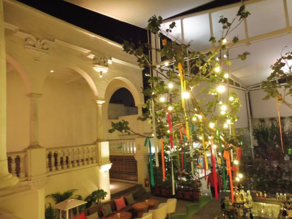 Vue de notre table au restaurant ASTRID Y GASTON à Lima au PEROU