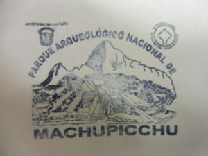 Visa du MACHUPICCHU