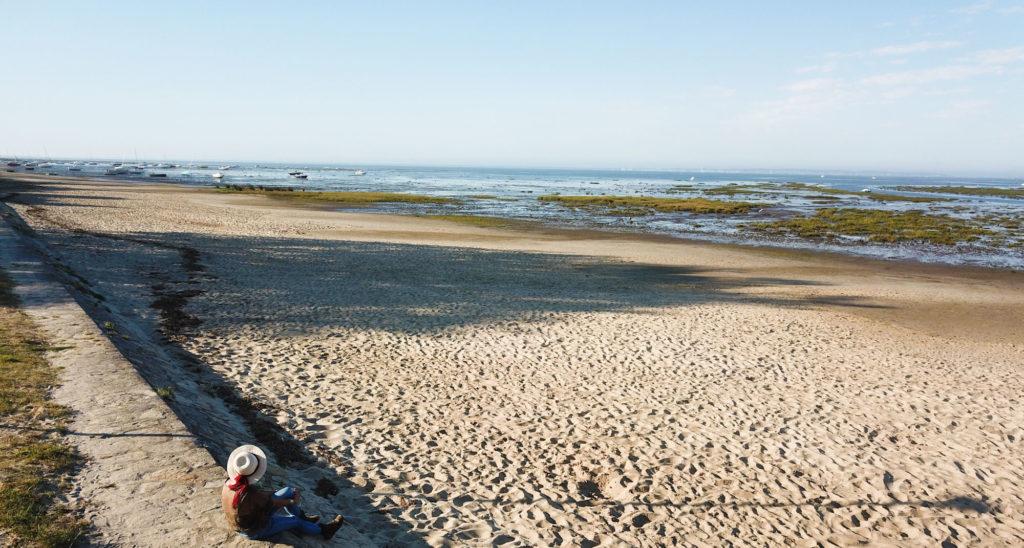 Plage d'Arès dans le Bassin d'Arcachon pour notre séjour de 3 jours