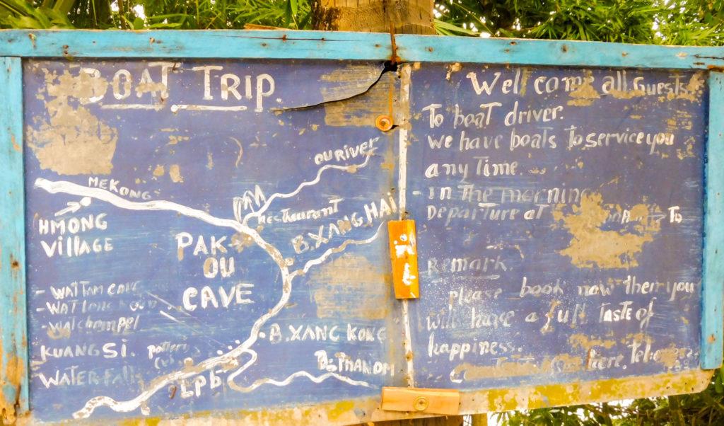 aller de Luang Prabang aux grottes de Pak Ou