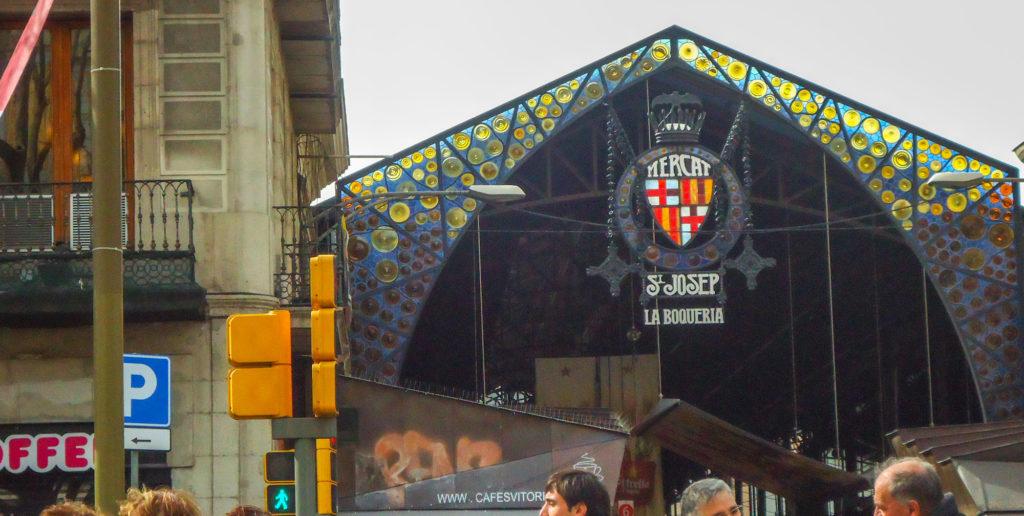 Marché de la Boqueria sur les Ramblas de Barcelone