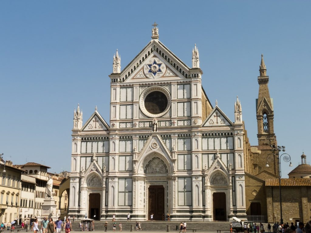 Etapa de mi circuito a pie en Florencia : Basílica de Santa Croce