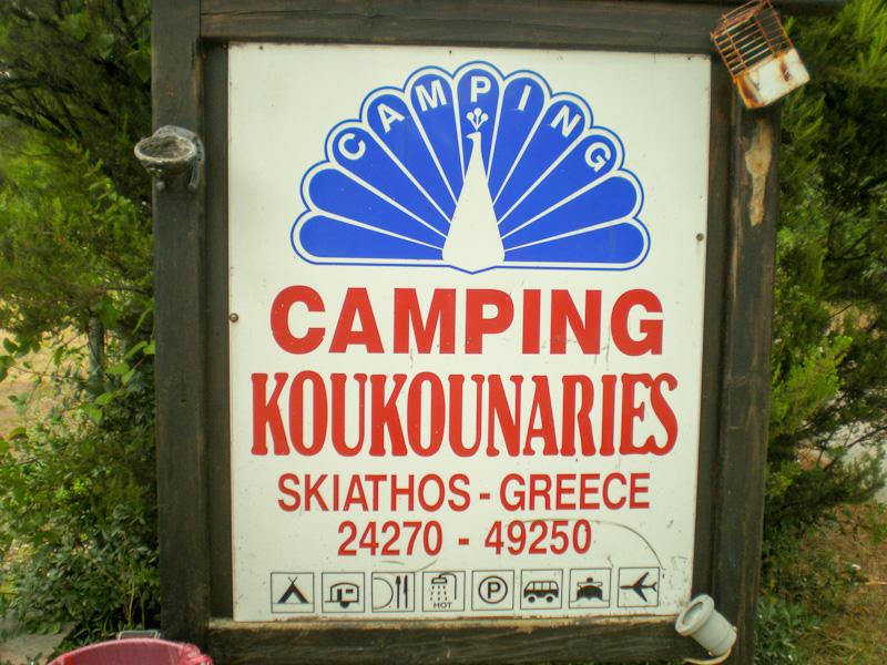 Camping à Skiathos sur mon parcours en Camping Car en 2 semaines