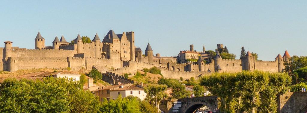 этап путешествия monCITE DE CARCASSONNE на юг Франции