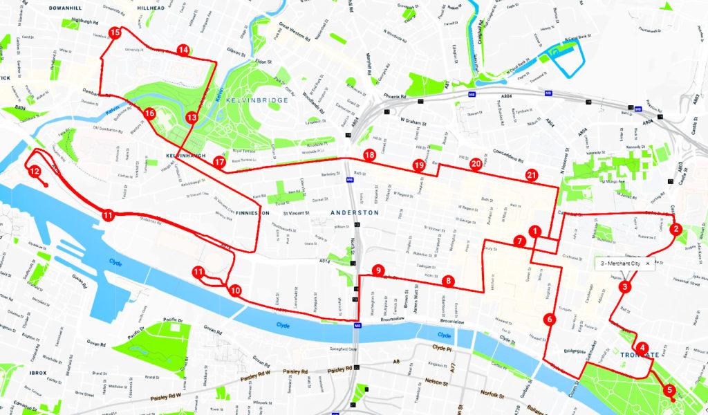 Incontournables de Glasgow en 1 jour - Itinéraire bus touristique