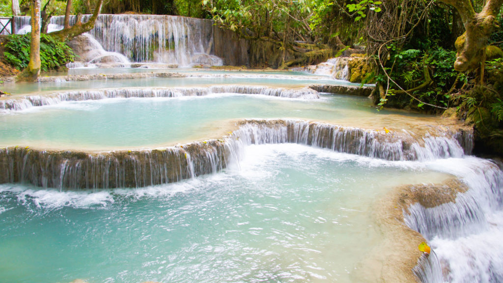 Kuang Si WATERFALLS IN NORTH LAOS