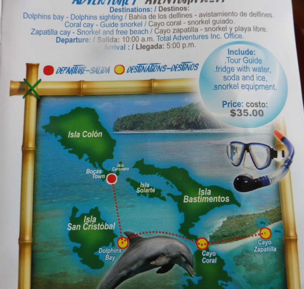 Tour Total Adventure sur Bocas del Toro