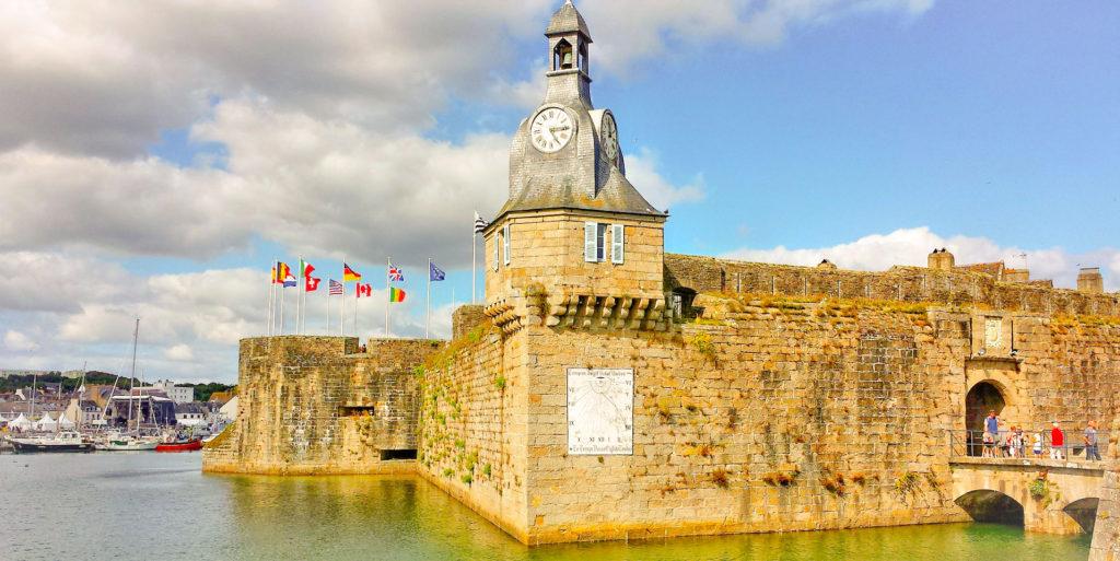 CONCARNEAU étape de l'itinéraire en voiture pour visiter la Normandie et la Bretagne