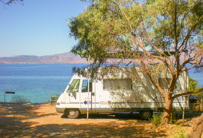 road trip en Camping car en Grèce
