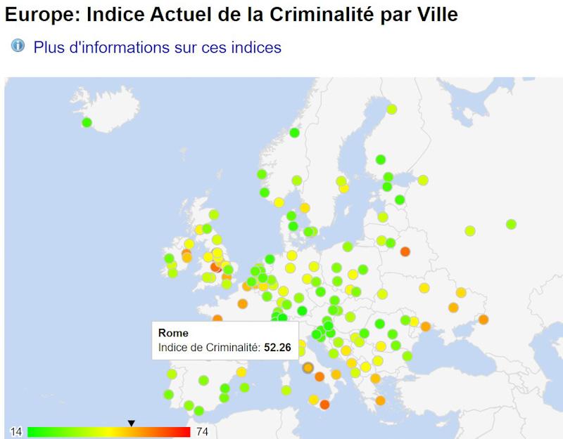 Carte Rome des quartiers à éviter