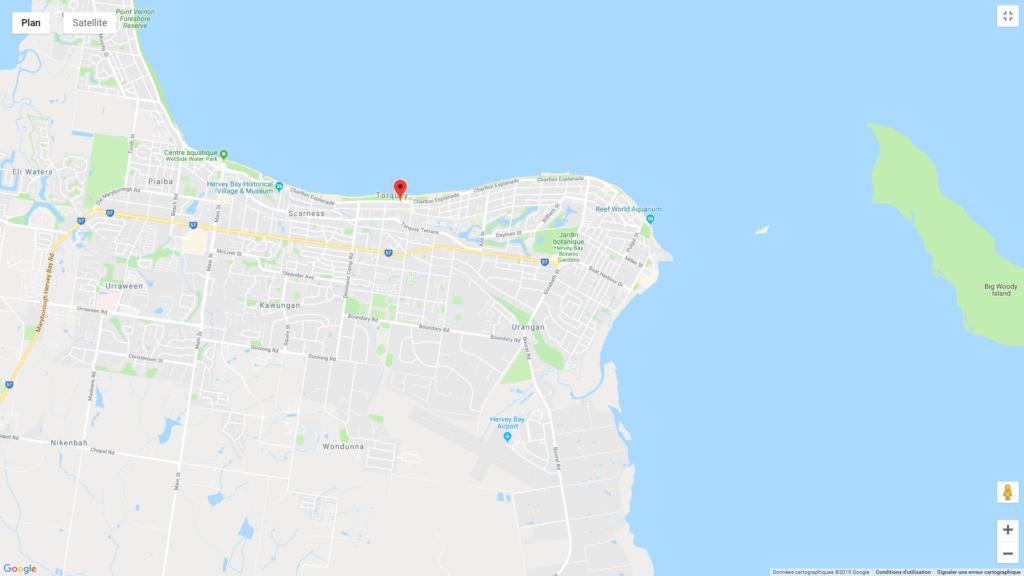 hotels pas chers Australie selon circuit de 3 semaines  situé à Herbey Bay