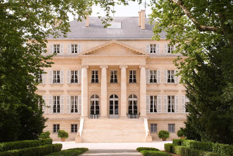 sur la route des vins de Bordeaux le chateau Margaux