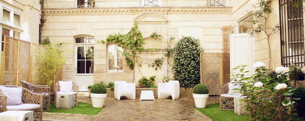 Cote cours Hotel particulier - Meilleur hotel Bordeaux