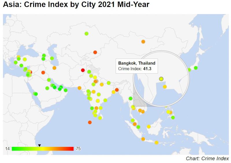 carte criminalité Bangkok