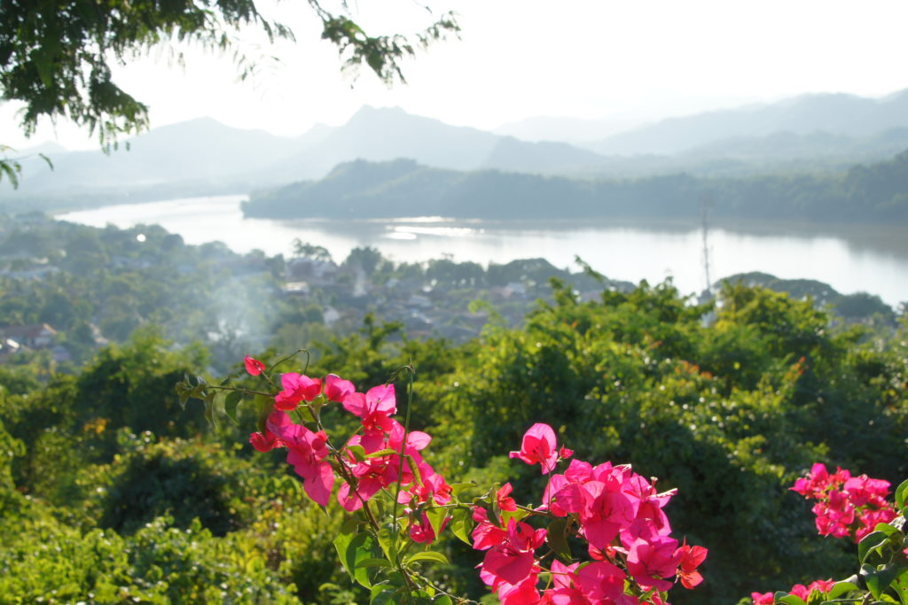 VIEW OF MONT PHOUSI in LUANG PRABANG NORTH OF LAOS