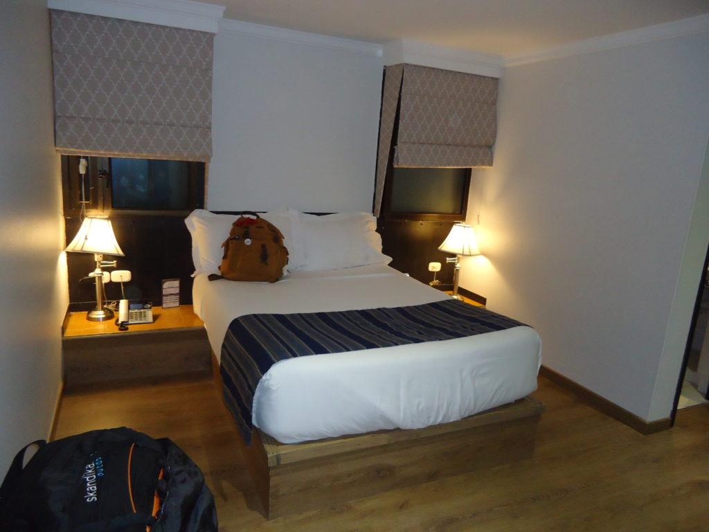 Chambre de l'hôtel Saint Simon faisant partie de ma sélection d'HOTEL PAS CHER BOGOTA