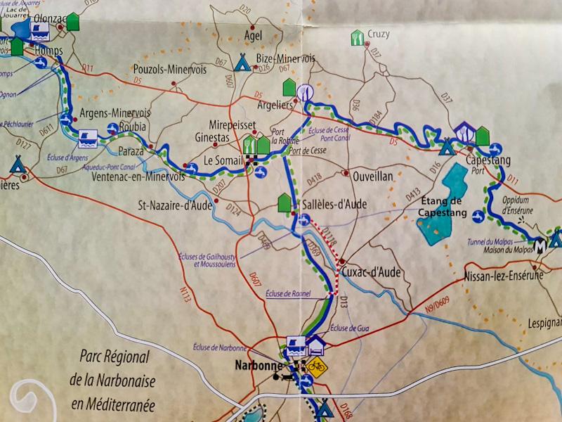 De Puichéric à Béziers - Tourisme le long du Canal du Midi vers capestang
