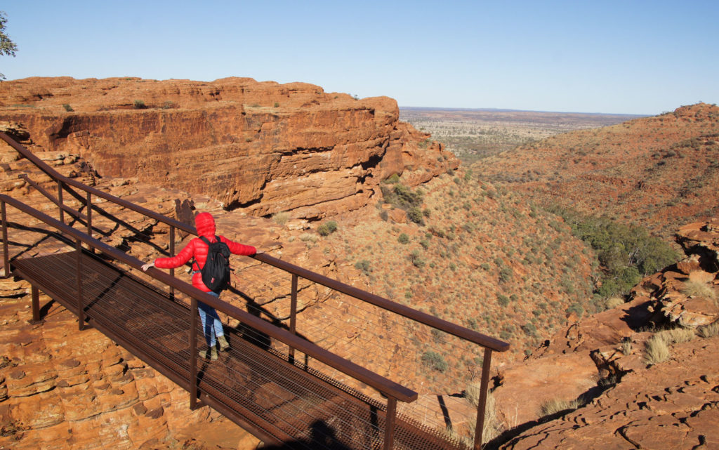 Road trip en el disierto del Centro rojo  Kings Canyon Rim Walk