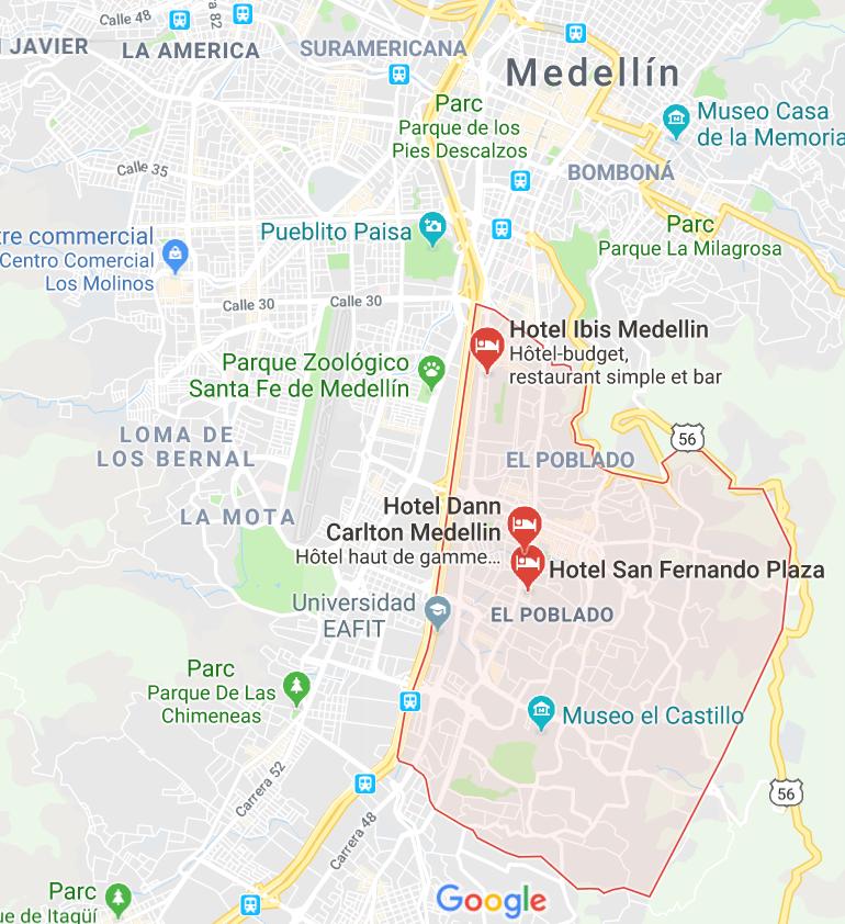 QUARTIER EL POBLADO A MEDELLIN