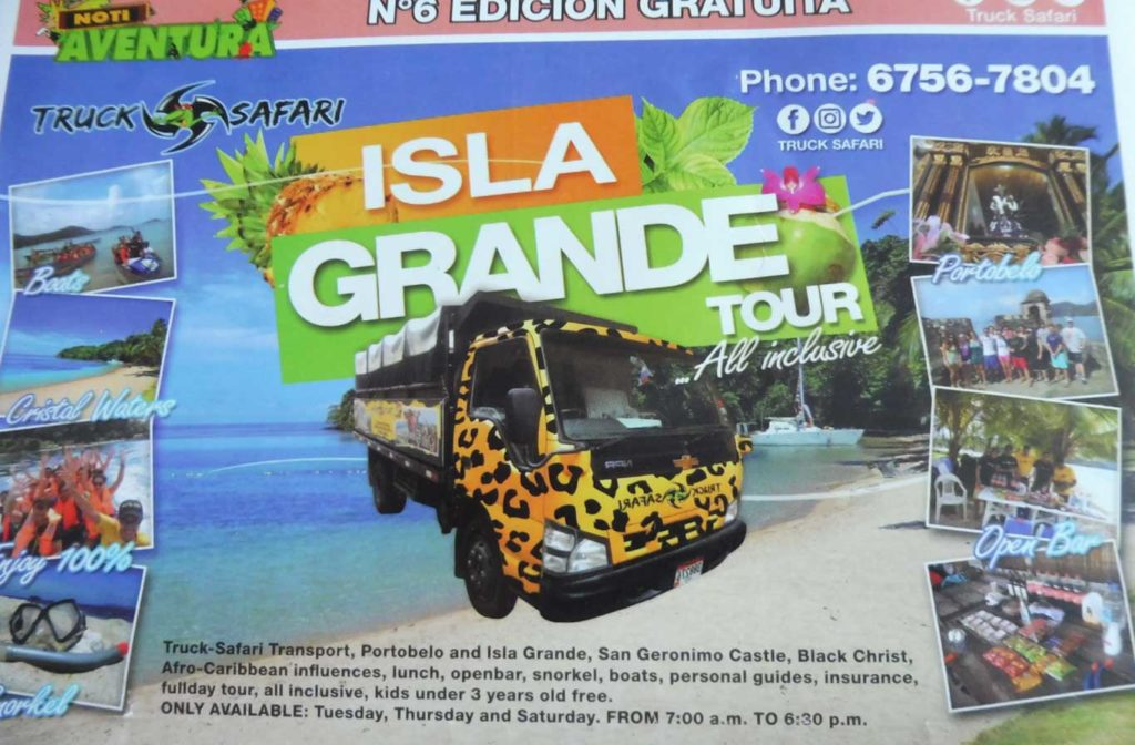 Panama City excursion Isla Grande