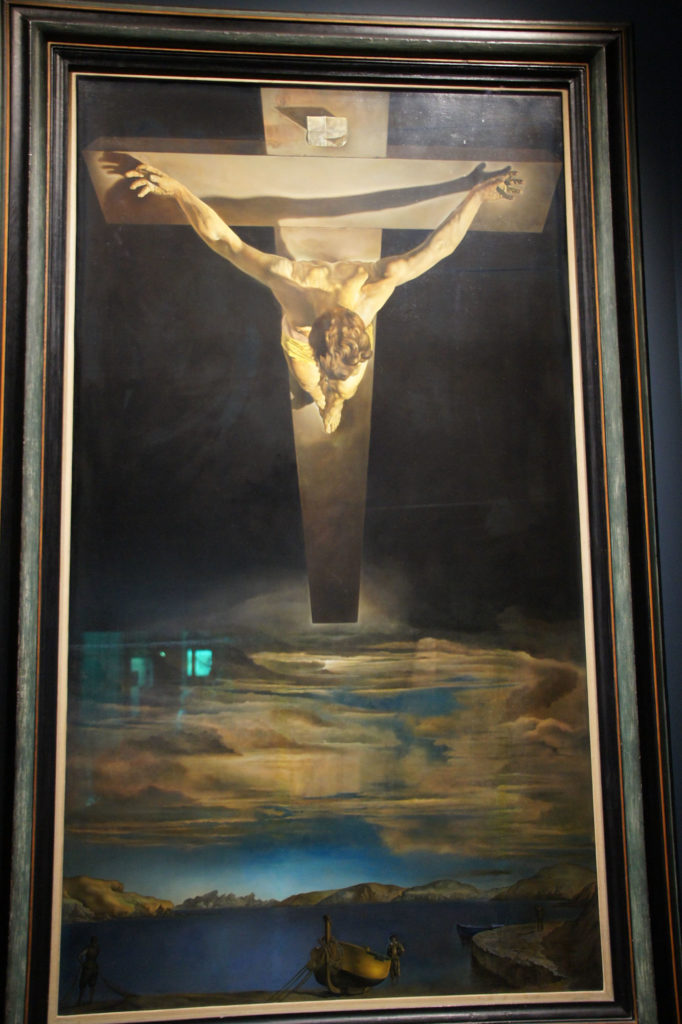 GLASGOW Kelvingrove museum toile de DALI