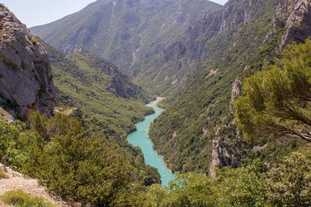 Route de la Corniche sublime - Itinéraire Gorges du Verdon en suivant la rive gauche