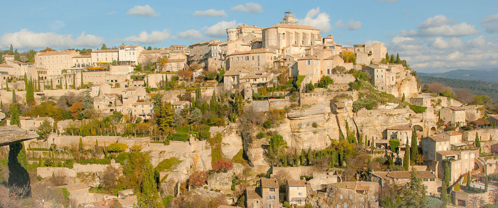 sud de la France en train étape à Gordes