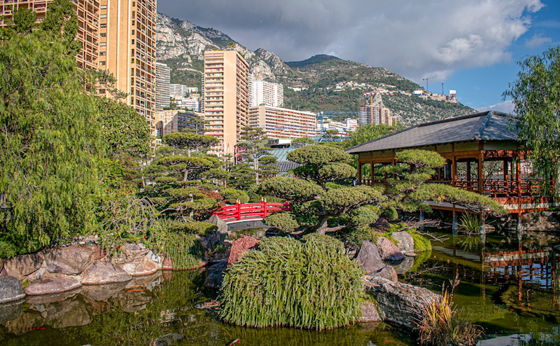 Etape de mon circuit touristique de Monaco : Jardin Japonais