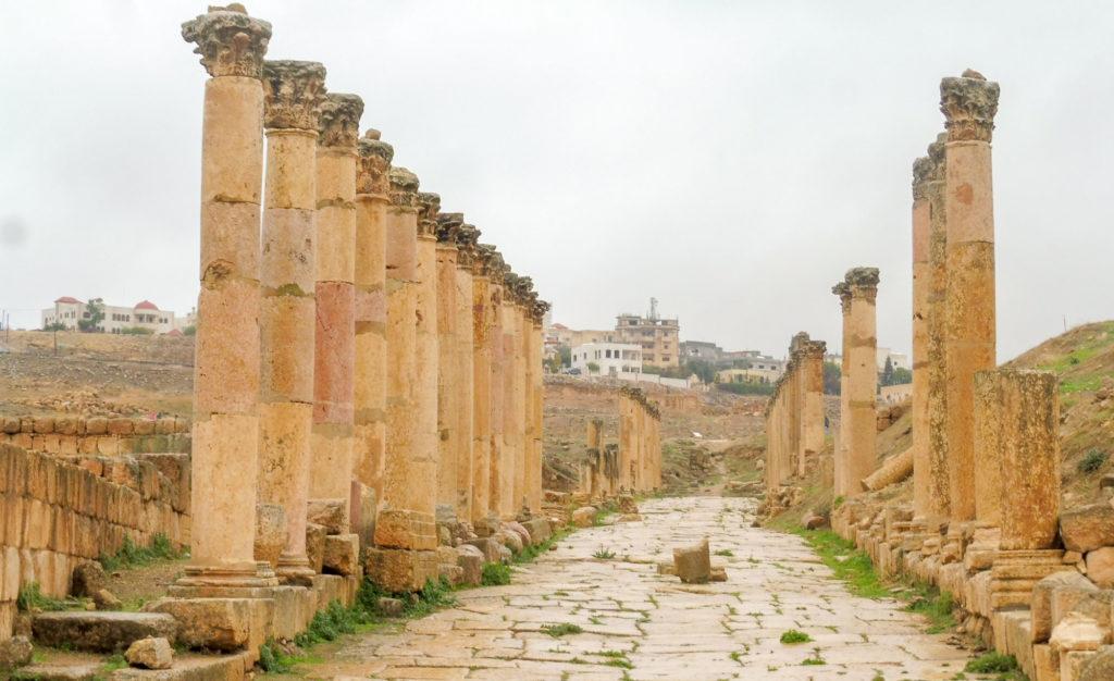 Nord de la Jordanie - Visite de Jerash et de ses colonades