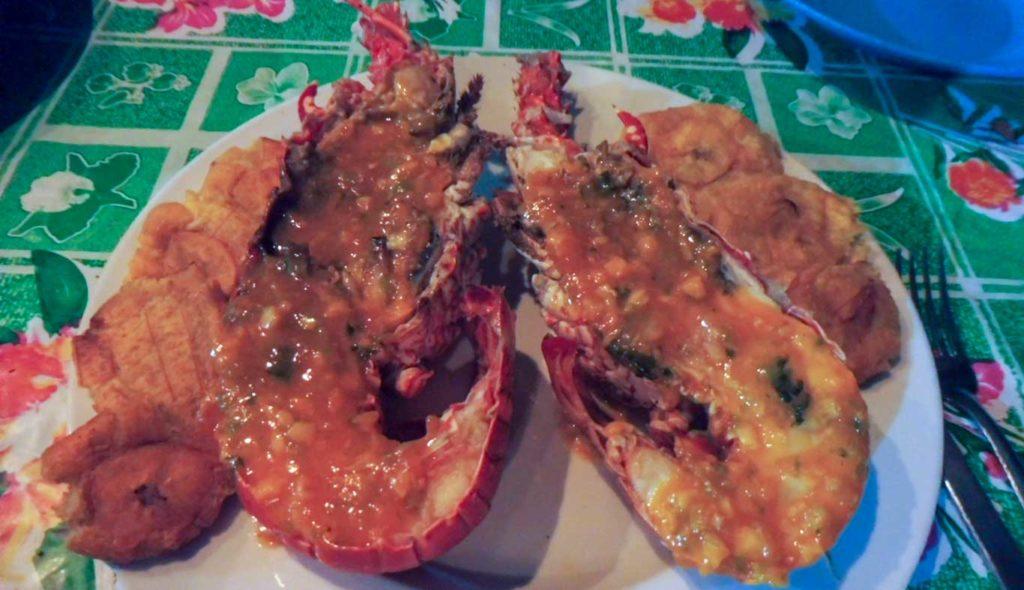 Langouste repas aux îles SAN BLAS