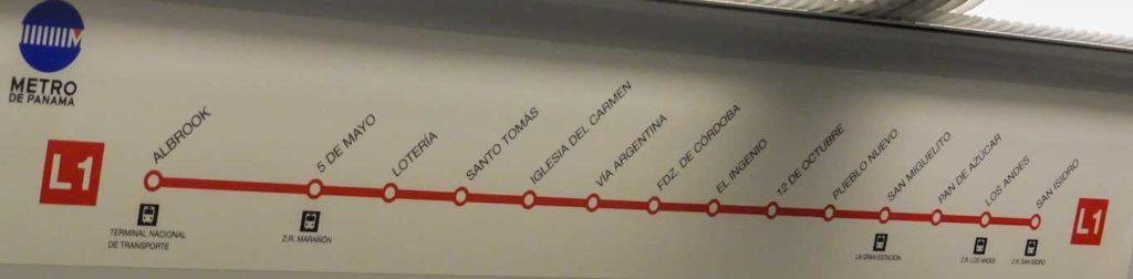 ligne métro panama city