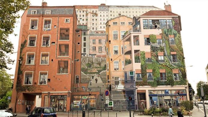 Itinéraire Lyon à pied - Mon circuit du jour 2 quartier de la Croix Rousse