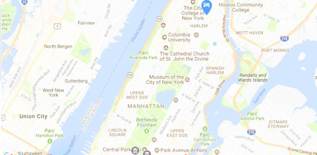 Localisation auberge de jeunesse dans ma sélection HOTEL PAS CHER NEW YORK
