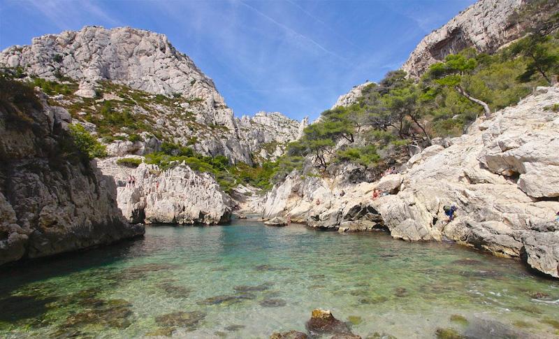 week end à la mer pas cher à Marseille - journée sur la plus belle plage du Frioul