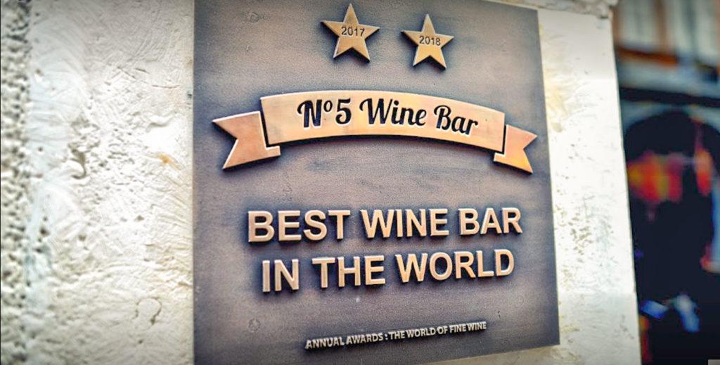 5 Wine Bar le meilleur bar à vin du monde est situé à Toulouse