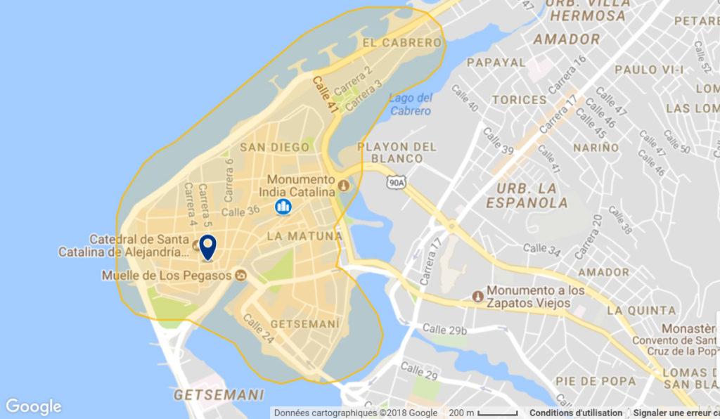 MA SELECTION DES MEILLEURS QUARTIERS CARTHAGENE POUR LES TOURISTES