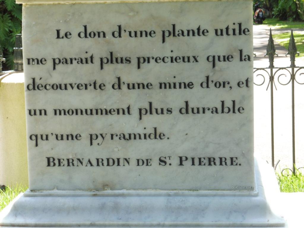 CARTE ILE MAURICE COTE NORD entrée du Jardin Pamplemousses