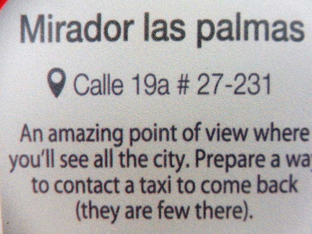 MIRADOR LAS PALMAS - CENTRE MEDELLIN