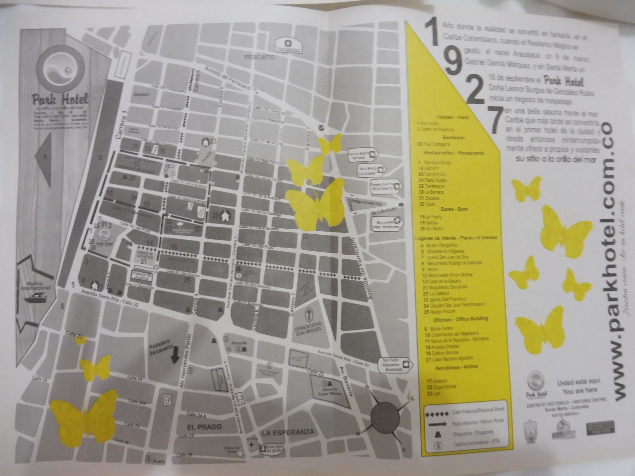 plan du centre de SANTA MARTA