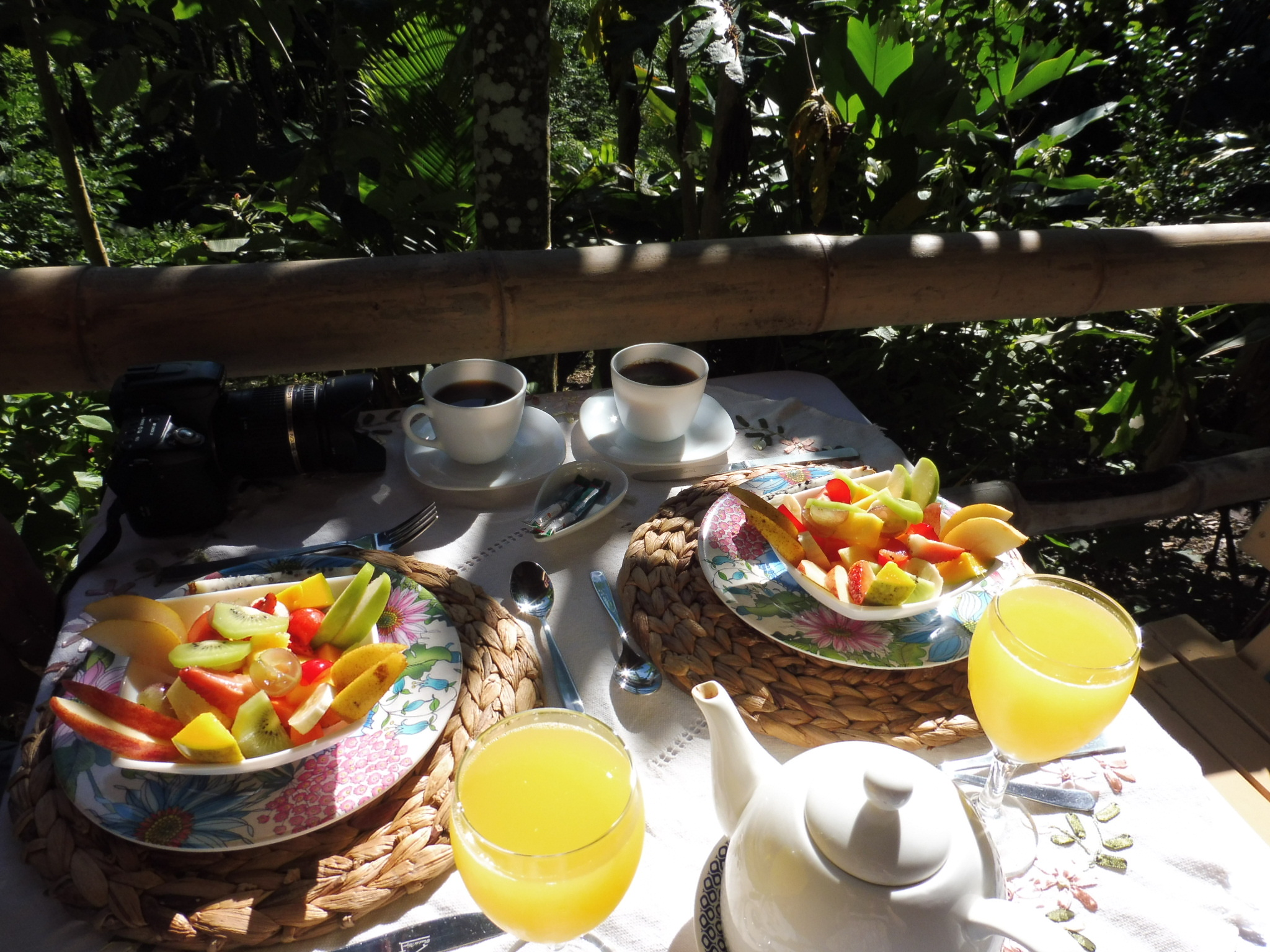 MINCA petit déjeuner à Minca GLAMPING