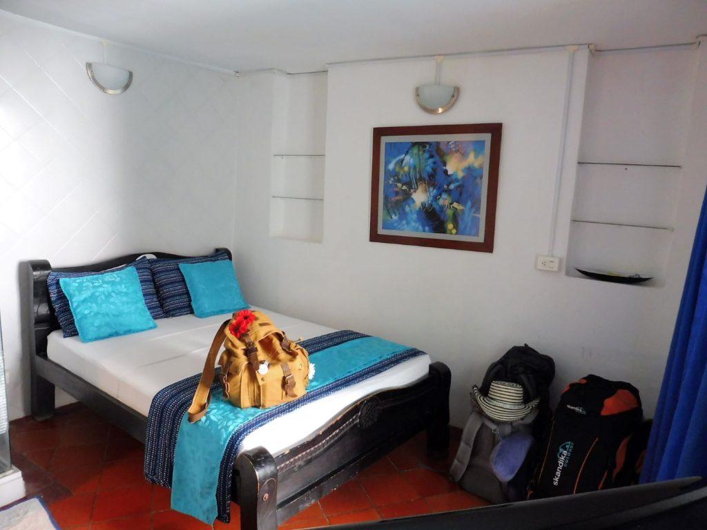 Notre chambre dans HOTEL PAS CHER CARTHAGENE Plaza Trinidad